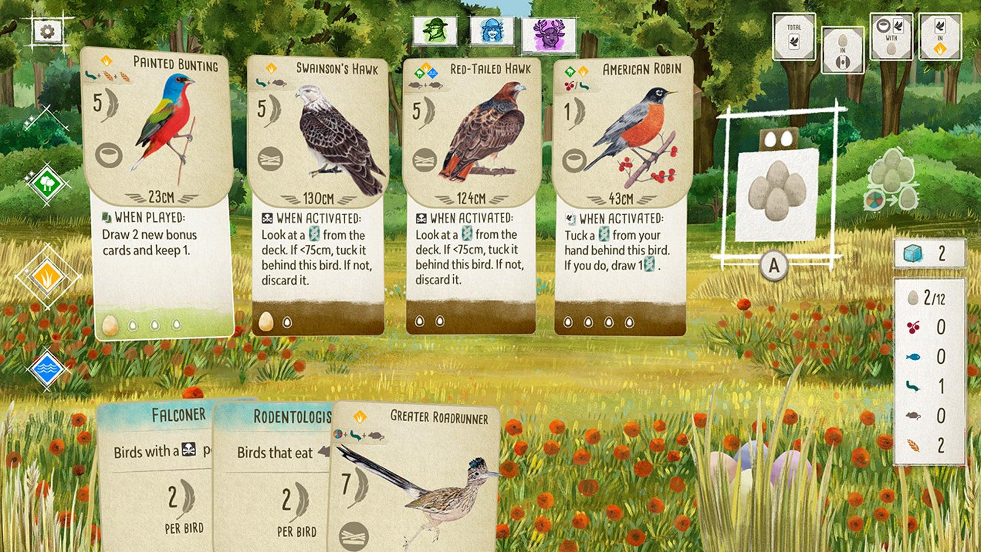 Wingspan video game screenshot 2