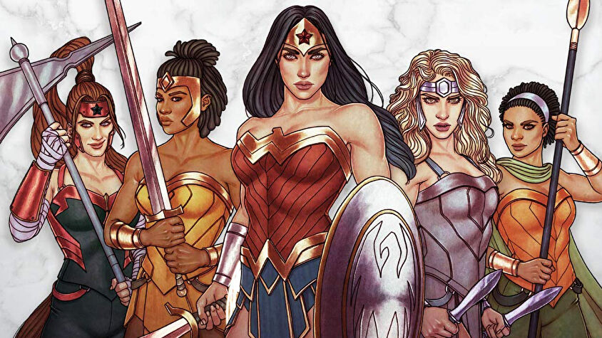 Wonder Woman: Challenge of the Amazons board game artwork