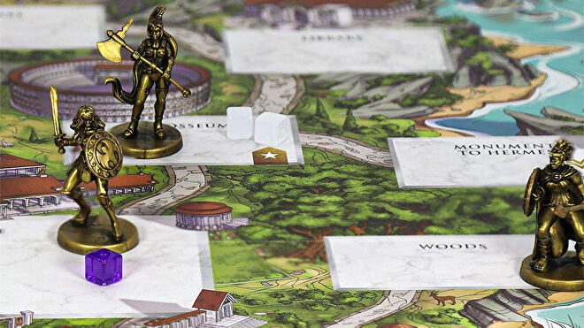 Wonder Woman: Challenge of the Amazons board game layout