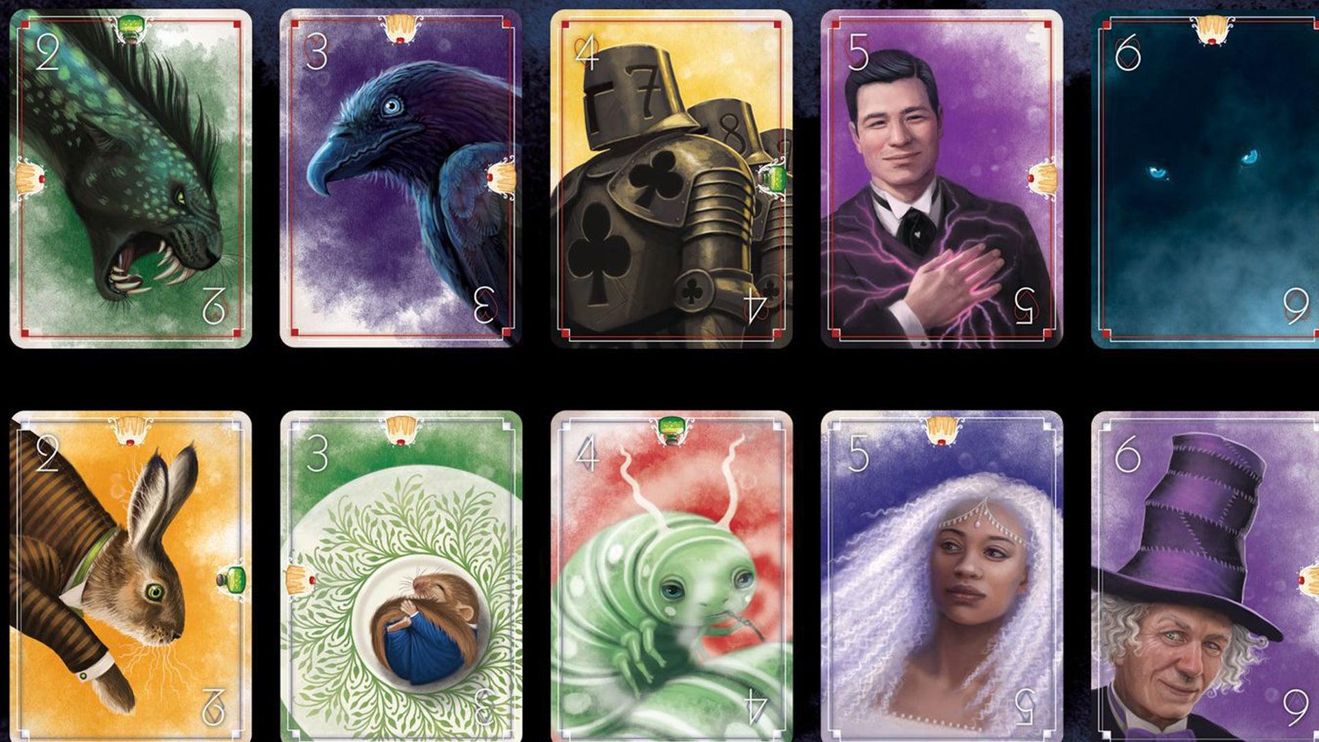 Wonderland board game cards