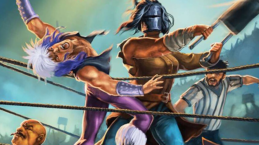 World Wide Wrestling: Second Edition roleplaying game artwork