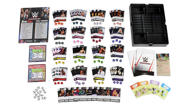 WWE Dice Masters board game layout