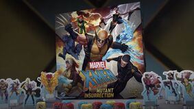 X-Men: Mutant Insurrection board game layout
