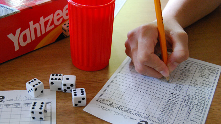 Classic roll-and-write game Yahtzee