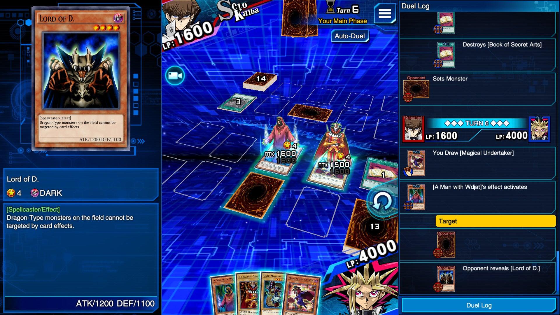 Yu-Gi-Oh! Duel Links digital board game screenshot