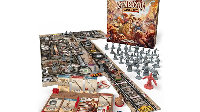 Zombicide: Undead or Alive board game layout
